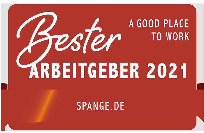 Bester Arbeitgeber Siegel 2021 - Spange.de